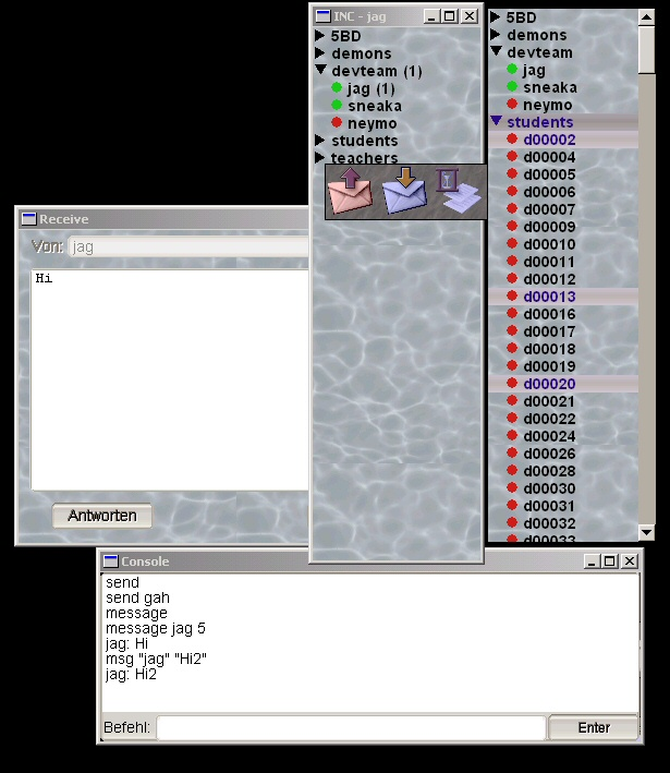 A fully-featured instant messenger. Please note that we were no designers.